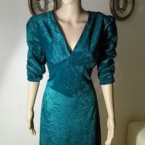 Green Velvet maxi dress, size 8